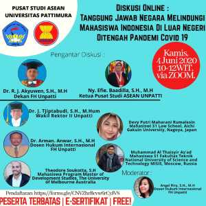 Diskusi Online PSA UNPATTI